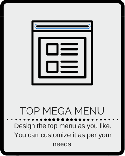 Top mega menu