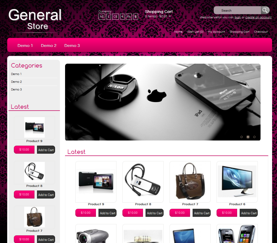 Ecommerce Website Templates - Buy ecommerce website templates