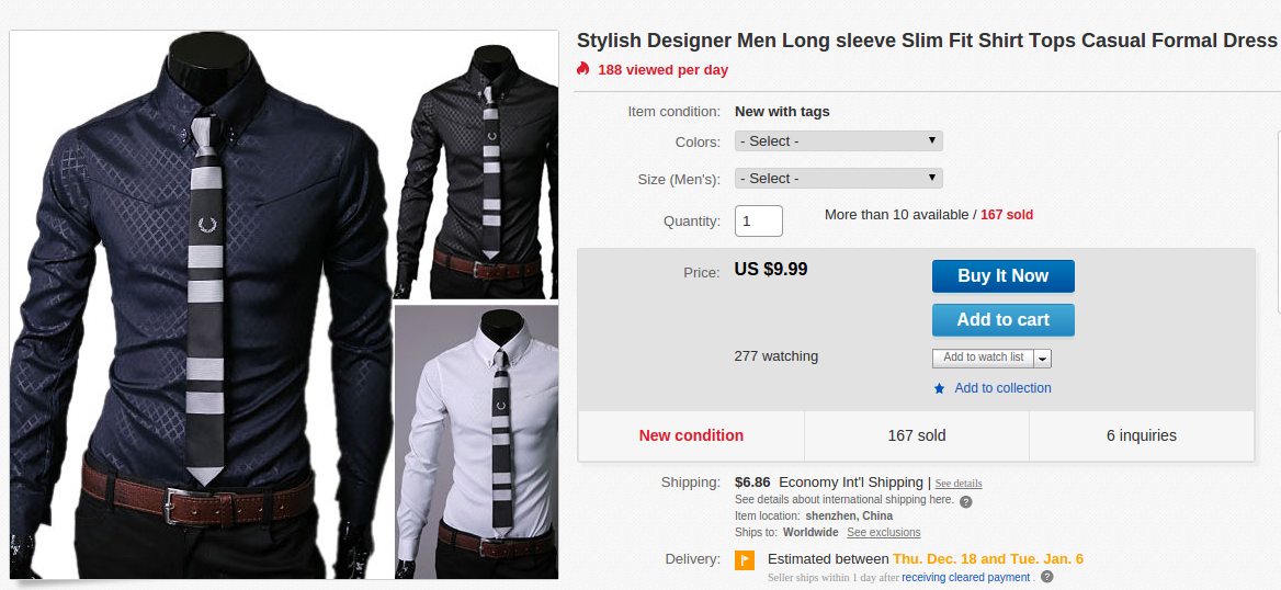 Long Sleeve Slim Fit Shirt
