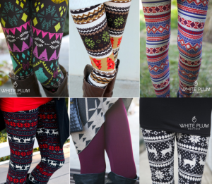 Cheap Leggings Fashion Christmas Deer Print Knitting Leggings
