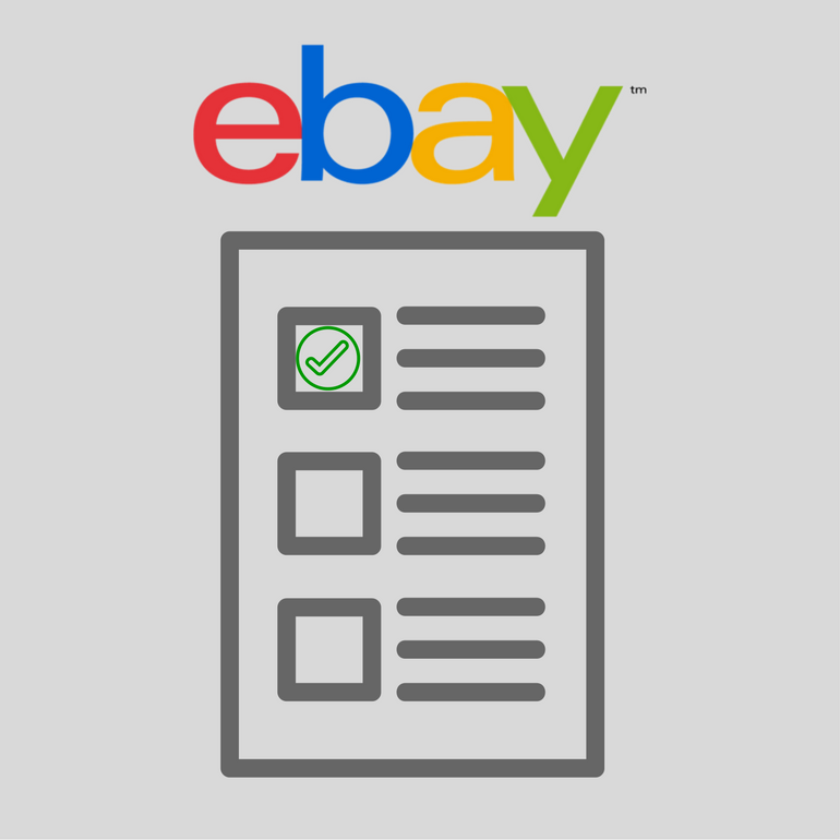 eBay seller checklist To Keep